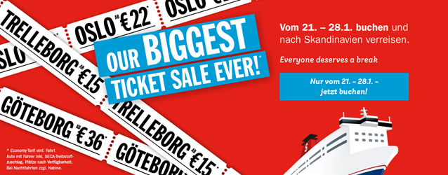 biggest ticket sale ever bei stena line nach skandinavien gro britannien und ins baltikum. Black Bedroom Furniture Sets. Home Design Ideas