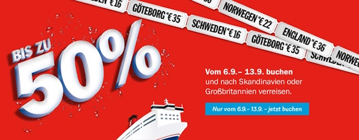 big sale bei stena line bis zu 50 auf berfahrten nach gro britannien schweden norwegen und. Black Bedroom Furniture Sets. Home Design Ideas